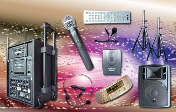 e1 portable wiireless auderpro ap909pa dvd usb kaset vhf sound system pa1 speaker pasif ap122 12 inch