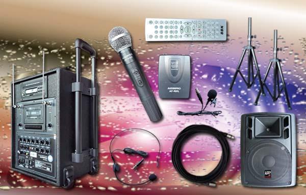 e2 portable wiireless auderpro ap909pa dvd usb kaset vhf sound system pa1 speaker aktif ap112a 12 inch