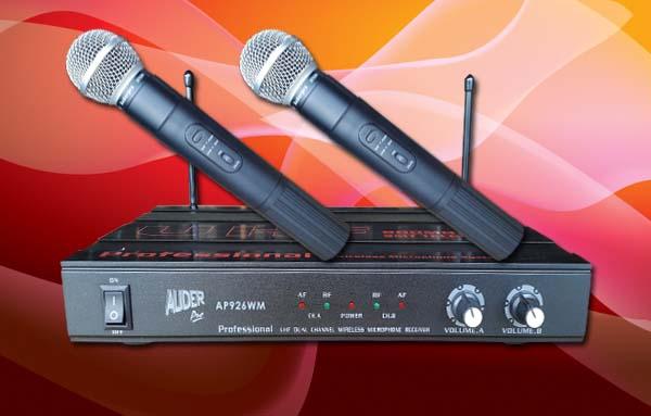 mic wireless auderpro ap926wm analog genggam gengam