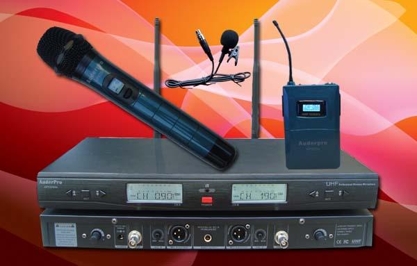 mic wireless auderpro ap929wm hl digital genggam jepit