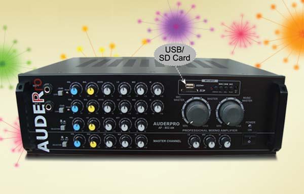 mixer amplifier karaoke auderpro ap802am usb