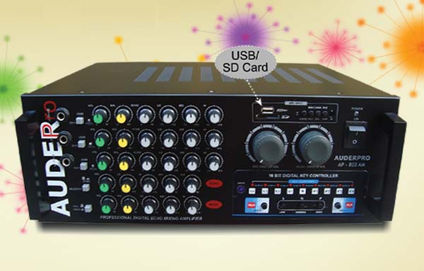 mixer amplifier karaoke auderpro ap803am usb