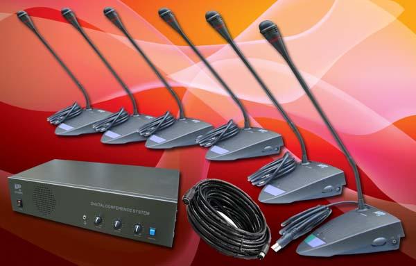 paket conference 6 30 mic rapat meeting conference system auderpro ap808mc