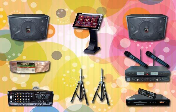 paket karaoke 6 mesin lagu sound system room