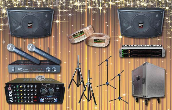 paket multi audio 10 sound system bagus garansi