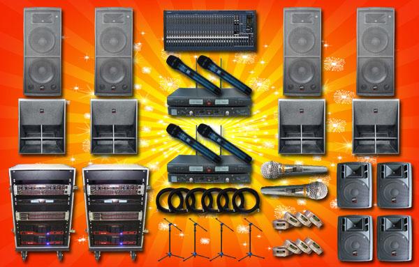 paket sound system lux 2 yamaha auderpro band lapangan event pemda