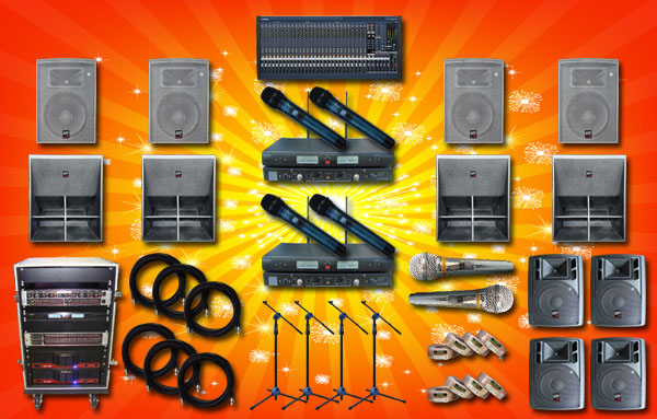 paket sound system lux 5 yamaha auderpro hall indoor outdoor