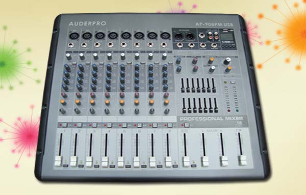 power mixer professional auderpro ap908pm usb 8 chanel