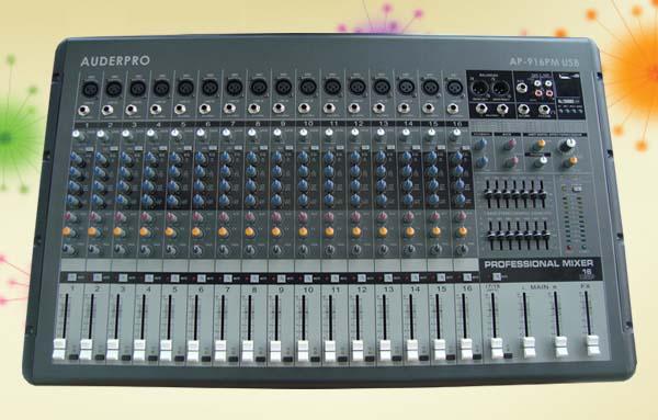 power mixer professional auderpro ap916pm usb 16 chanel
